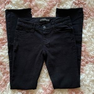Express Low Rise Barely Boot Black Jeans Sz 4L
